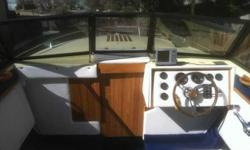 Everything on this boat is brand new. Last year it got all new carpet, seats, and wood work stereo. It has a Inbord 350 engine that runs smooth and is very reliable. This boat is deep enough that when the lake gets windy you still feel very safe. It has a