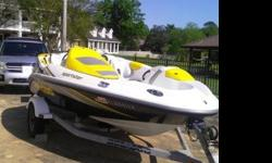 2006 Sea Doo Sportster 150 Supercharged 215 hp - 4TEC Jet BoatYellow/Black/Silver Excellent condition Meticoulously maintained & serviced Garage kept Only used 55 hours Includes Sea Doo Cover Includes Trailer.