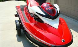 New 2007 Sea Doo RXP - 215 hp supercharged w/ new Shorelander trailer, new cover and used aluminum Shore Station wave runner lift. Sea Doo was never used / never started - 0 hours. Stored in heated garage.