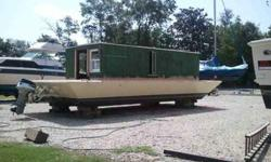 30' glass over wood redone with all new materials. Needs finish work done on inside. Comes with with a 100hp evinrude. Great boat must see.Call 251.518.9996 or 251.689.1912.