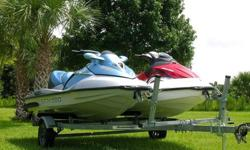 "2008 SEA DOO GTI WITH ""6"" HOURS & 2006 SEA DOO GTX ""SUPERCHARGED"" WITH ""41"" HOURS! YOU ARE LOOKING AT A PAIR OF ONE-0WNER ""ADULT OWNED"" GARAGE KEPT SEA DOO WATERCRAFT THAT INCLUDES THE TRAILER. THE PICTURES WILL SHOW THE EXCELLENT CONDITION BOTH OF THESE"