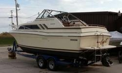 1980 Carver 26' Express Cruiser powered by a 260HP Mercruiser Boat runs well and does not need anything Includes trailer, full camper top, and winterizing/storageNeeds to go, I bought a bigger boatEmail me for more pictres or call (262) 207-4134Listing