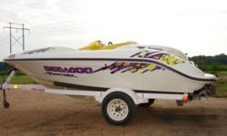 1996 Sea Doo Speedster jet boat, twin 85hp Rotax engines, trailer, runs well, will pull skier. Yellow, purple and white in color. Get ready for the lake! $4,350.00 662-902-5294 .See item listed at http