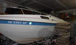 1979 Apollo 21'Cuddy with a fresh 350,and a rebuilt outdrive.Has a nice interior,fish finder,nice cabin w/sink and fridge.Has a nice trailer also.Moving to Nevada and won't need this!Call Jim at (208)661-4441