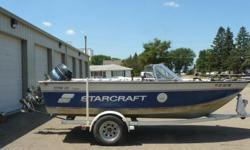 Here is a nice 1991 Starcraft fishing boat. It comes with the trailer, a 90 hp Mercury outboard and a 15 hp Mercury kicker. It also has a Minn Kota 62 lb thurst trolling motor with AutoPilot and foot control. Also included are two sonar units - front and