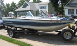 1988 Crestliner Nordic Fish and Ski boat with 1998 115 HP Mariner motorQuality, reliable family boat with three pedestal seats. Front and rear casting decks convert to bench seats. Full console with pass through window. Many options.--2002 custom heavy