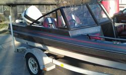 1988 Challenger Fish & Ski Boat, 17ft with 110hp Johnson motor plus Johnson trolling motor. Runs great and is in excellent condition with brand new upholstery and two live wells. Boat has a Hummingbird fish/depth finder and a Marine Stereo with CD player.
