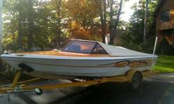 Up for sale is my 1984 Malibu Skier 19ft speed boat with 601 hours. It has a 351 motor, the only thing it needs is a new starter it went at the end of the season and I didnt have the time to change it. The boat is fully winterized and shrink wrapped .This