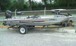 A nice completely rebuilt 1987 Bass Tracker Pro 16 this boat has new carpet,wood and seats.Powered by a 1995 40hp Mercury Tracker oil injected w/ power tilt/trim motor; sitting on a Tracker Trailer with new tires and wheels,spare tire, newly installed