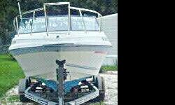 ~For Sale By Owner ~ 1988 22.5ft MARATHON Sportfish Boat With Trailer. *New Motor with around 30 hours on it *New Outriggers * Rebuilt Outdrive * New Glass on all Windows * Cuddy Cabin with New Cabin Cushions * Fiberglass Hull & Floor * Built in Coolers &
