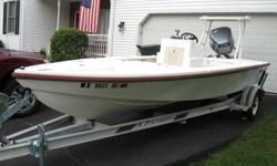 Up for sale or possible trade on another boat is my very rare and unique 1993 Mako 161 flats boat. None of these left especially up north. It's powered by a 1993 Yamaha 115. It has a brand new lower unit a year old and rebuilt carbs. Runs fantastic and
