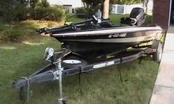 """1994 Stratos 264V Bass Boat 16'4"""" 1994 120HP Evinrude Outboard Trolling Motor and Two Fishfinders Onboard Three Bank Battery Charger Single-Axle Trailer with Spare Tire 256-794-7386"""