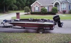 18 ft 1986 Stratos with Mercury 150 hp Black Max XR2 Custom installed hot foot 2 Humminbird depthfinders Minnkota Trolling Motor Purchased new cranking battery last year and new deep cycle battery this month Comes with removable speed prop Brand new trim