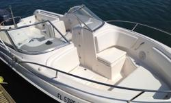 2005 Aqua Sport Osprey Sport 215 with a 2000 HPDI Yamaha 200 hp Engine with Stainless Steel Prop. This boat has New Batteries, New Dash Board, New Switches with breakers, New Electrical Cables, New Steering Cable, New Throttle and Cable, New interior, New