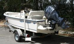 =This is a 2005 Key West 1720 Sportsman that has only 17 hrs on it. That is right only 17 hrs. This has hardly been used.This Key West Sportsman has a 90 hp Yamaha 4 stroke with only 17 hrs on it. It has a stainless 3 blade prop, stored inside, perfect