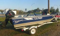 WINTER SPECIAL!!!!!! this boat will be $1000 more next April!****1996 Lund Explorer Deluxe, with 1997 Mercury Tracker 40HP, oil injection, Shorelander roller trailer..live well, foot control trolling engine, fish finder, lots of storage... GREAT RIG at a