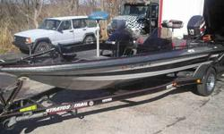 """Selling my Stratos bass boat. Boat is 17'9"""". Hull is a turbo """"V"""". Engine is a Silver Star series Johnson 150 hp. 48 volt Johnson trolling motor, dual bilge pumps, dual console, front and rear live wells, jack plate, nice trailer, plenty of storage, extra"""