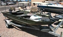 Aluminum Hull, 25 HP Yamaha Outboard, 2 Bimini Tops, Fish Finder w/ GPS, Electric Trolling Motor w/ Foot Pedal, Swiveling Fishing Seats, Dual Batteries w/ Charger, Rod Holders, Single Axle Trailer w/ Folding Tongue & 2 Spare Tires and More!