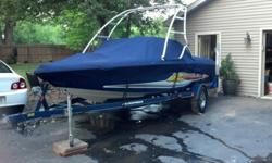 This boat has a heater, Perfect Pass, Kenwood CD player with controls on drivers side, ballast under rear seat, wakeboard holders for tower, (not pictured), rear view mirror, (nice one that mounts to tower), new battery, swim platform, wake plate, 310 HP