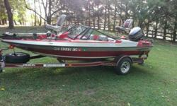 I have a 1989 Javelin 366 with clear title for both boat and trailer. Very well maintained, this 17 foot boat needs nothing and has everything. Everything works except speedometer. Brand new wheels and tires on trailer, 2 depth finders, Johnson 12/24 volt