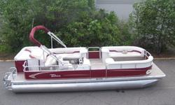 New 24 ft top of the line Grand Island pontoon boat. Some of ours say Tahoe on the side and some say Grand Island. We are low on this model so please call to see what colors are in stock.This is a new 2012 8.5 ft wide 24 ft top of the line pontoon boat.