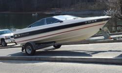 1986 bayliner capri 19.5ft, inboard 5.0/ outboard 275 penta volvo. Runs great lake ready. New bilge pump and both engines serviced this summer. Some tares in upholstery and gas gage does not work those are only negatives. It comes with an assortment of