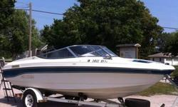 1993 Rinker open bow.This boat is in great shape for the year.solid floor excellent carpet and good vinyl,comes with a humming bird fish finder , classic self leveling trailer has excellent tires!! Canvas trailer able cover! Lots of storage!bimini