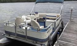 18 Foot Northwood Pontoon boat. Excellent condition 30 HP Johnson motor. Livewell, Fishfinder, dock lights Located on East Bass Lake, Cotton, Mn. Where you can take it for test drive! Is also available to be trailered for pickup if need be. Call (Don't