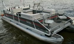 24 ft. SUNTRACKER Pontoon (Party Barge)with a 90 HP Evinrude w/tilt and trimAlso includes 24ft. Triton TrailerHas a Bimini Top, and AM/FM radio w/CD PlayerNice shape and runs great ~ and priced to sell.