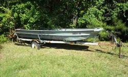 old 16 feet boat and trailer dont have a title but will give you bill of sale on both price is $500 firm bought enough trailers to know the sets worth this price no trades we got way to much stuff already located in downsville on hwy15 selling as is call