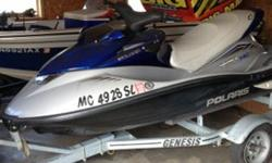 jet ski in good condition has trailer and cover but motor locked up. low hours on machine but was rolled over the wrong way and water got in motor. ?