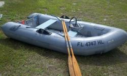 For sale is a nice, heavy duty Avon inflatable boat. This boat inflates within seconds with the portable foot pump. Features