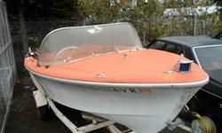 1959 Cavem , boat & trailer , in nice shape , and she floats, engine works but needs some tlc. The trailer works well. $ 500.00 O.B.O only 1 previous owner, has title , please call Bill 360-904-6953Listing originally posted at http