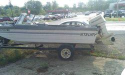 boat, trailer and 115h motor 500.00 obo ready to go fishing