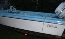 1964 Glastron Skiflite vintage boat with trailer w/ new LED lamps and rebuilt 1959 Johnson Outboard engine.Motor supposedly runs but needs Carbs...Nice interior.Trade for a Camper/Trailer.$500.Another motor included for the carbs.802-442-1567Listing