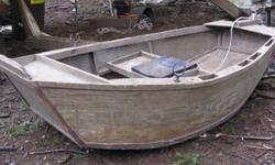 """8'x 4' one guy drifter. Great shape. I built this boat. It rows great and takes a good size wave,allot of fun. Has glouvit on the bottom and man of war varnish on the rest. Comes with oars oar locks and anchor.Only draws about 2"""" of water. Call Mike at"""