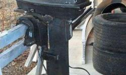 Evinrude Tracker 25 horsepower Boat Motor and ControlsThis is a GOOD Outboard Boat Motor, Comes with Controls, Wire Harness and Steering Connecting Rod.1989 Evinrude Tracker, Model Number