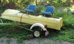 I have a fishing boat, trailer, life vests, trolling motor. and oars. One of the seats seam is coming open. You can see it in the picture. Would like to trade for a 6o gal air compressor. Wood lathe Wood planner High end digital slr camera. Of equal