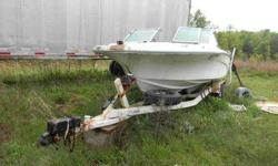 1972 20 ft mark twain boat and 1972 rolco tandem axle trailer. boat has mercury i/o 302 ci ford engine,engine is stuck, needs interior replaced. the trailer has like new tires and new white spoke wheels NO LOW BALLERS