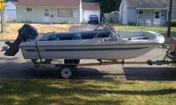 Boat big enough to ski, tube and enjoy a day on the water. Does have a small crack in Transom where motor is. I will be removing the boat motor and will be only selling the boat and trailer. Trailer is an easy loadr and has new wiring. Great price to get
