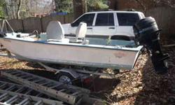 OLD MATCRAFT, needs batteries and carb adjustment on 50 horsepower mercury 381-2047..This boat is wort alot more money fixed up, i am moving and need it to go..$500.00 firm is giving it away the motor was working fine,just had some hesitation.Listing