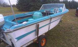1 Vintage Alumacraft Sea-Aira w/ trailer. 100hp Johnson Outboard Runs. Fiberglass V Hull Does not Leak. Asking $500 call 262 269-8701 for more informationListing originally posted at http