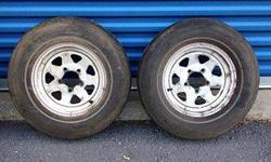 "White Spoke Trailer Wheels 13"" - These were on a Boat Trailer - They have tires mounted I have two Call Gary Cook - email - (click to respond)Listing originally posted at http"