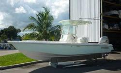 2007 Everglades 243CC Center Console This Everglades 243cc is ready for some hardcore inshore fishing, or just taking some friends out for a day on the water. Nice bow area with cushions, and a Clarion stereo control in the bow. Cooler and fishbox in the