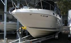 6.2 MPI Mercruiser with Bravo III Drive, 320HP, 140 hours,Full Camper Canvas, Boat Cover, Livewell, Fish box, Sink in bait station,Rear platform with swim ladder, windlass, Raymarine GPS, Clarion sound system, Marine radio, Vacu flush head with macerator,