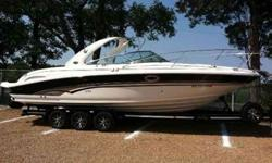 """2001 Sea Ray 290 SUN SPORT 2012 Custom Trailer Included !!! Stunning Sea Ray 290 Sun Sport with huge rear sun pad / swim platform. 9' 10"""" Beam offer spacious cockpit seating and a very stable, comfortable ride. Well appointed cabin will make overnighting"""