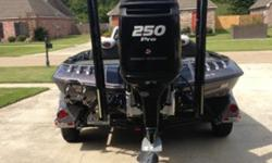 25 Fury, Atlas hydraulic, MinnKota 101#, 2 Lowrance HDS10, Lowrance HDS8, networked w/structure scan, Hamby's, 4 agm batteries, 2 Power Pole Blades w/foot control/remote, Touring package, blinker trim/jackplate controls, 4 bank charger, oxygenator, hot