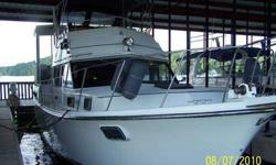 44 feet total length. Entire teak interior. Updated upholstery and carpet. Twin 454?s. 7 KW Kohler 4 cylinder generator. 3 central marine heat and air units. Sleeps 7. State room with full bath including shower/tub. Forward berth with full bath including