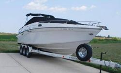 "2005 Crownline 288 BOW RIDER 2005 Crownline 288 BR. Full-size bowrider combines modern sportboat styling with luxury-class amenities, versatile layout. Wide 9'8"" beam provides plenty of deck space with built-in galley unit, generous dry storage, seating"