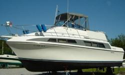 This 33? Carver Mariner 1995 is maintained to perfection. The boat is lovingly cared for having been lightly used and with mechanical and physical condition that would make a marine surveyor proud. This family cruiser features a Fresh Water Cooled set of